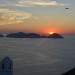 Sunset behind Palmarola